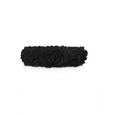 Großes Blumenarmband   Schwarz
