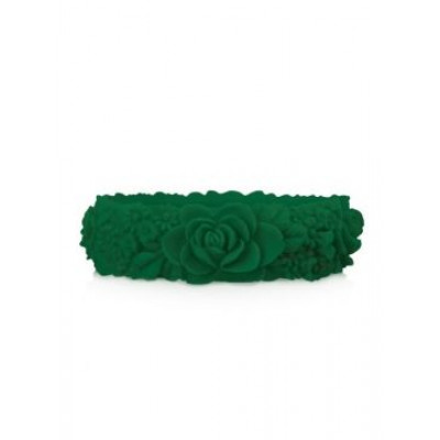 Großes Blumenarmband   Smaragd