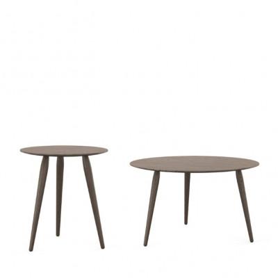 Set of 2 Coffee Tables PLAYround Ø 75 + 52 | Smoked Oak