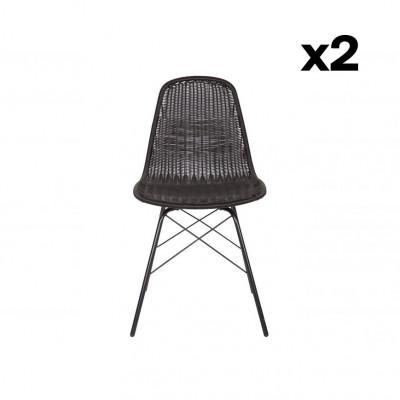 2-er Set Gartenstühle Spun | Schwarz