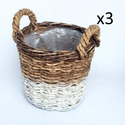Basket Abaca Set of 3 | White