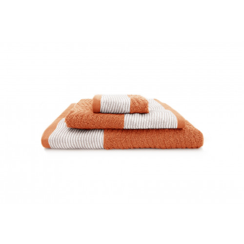 Serviette de bain Brad | Orange | Lot de 3
