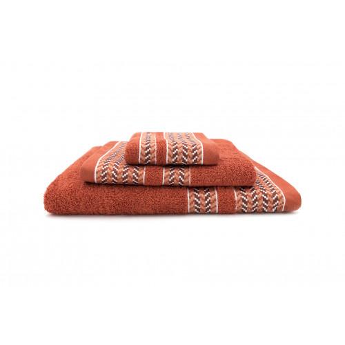 Serviette de bain Clint | Orange | Lot de 3