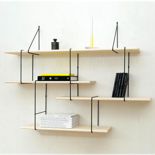 Shelving System LINK Set 1 | Ash Black