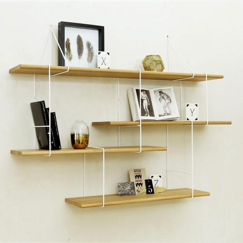 Shelving System LINK Set 1 | Oak White