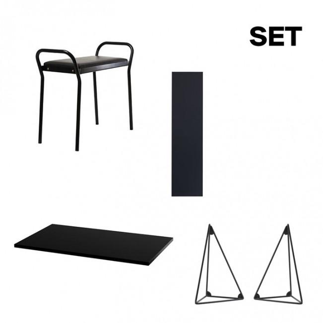 Set Schreibtischplatte Pythagoras | Schwarz