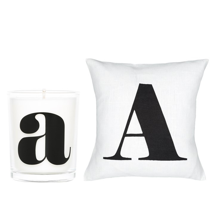 Housse Coussin + Bougie A | Blanc