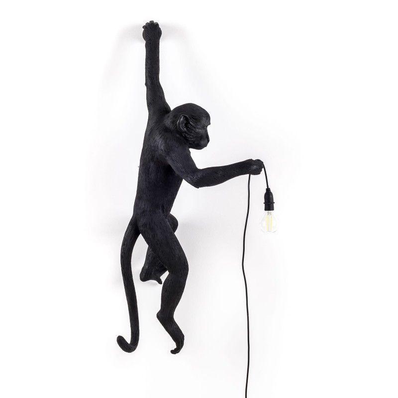 Außenlampe Affe Hängend   Schwarz