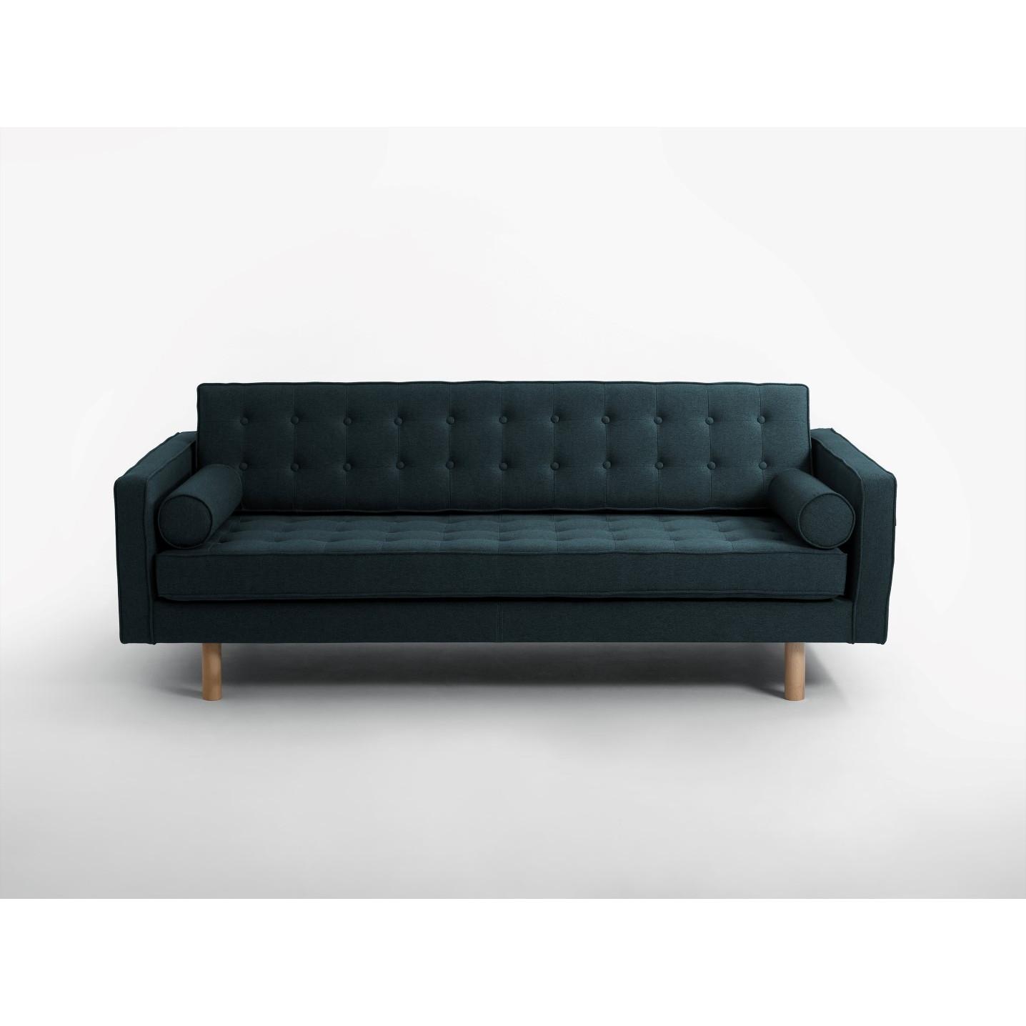 3-Sitzer-Schlafsofa Topic Wood | Deep Sea