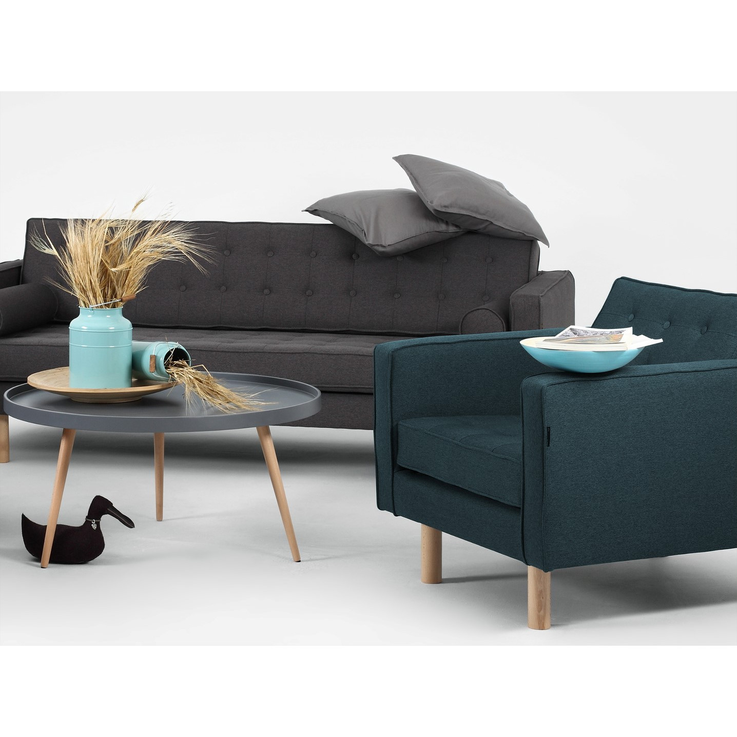 3 Seater Sofa Bed Topic Wood   Steel