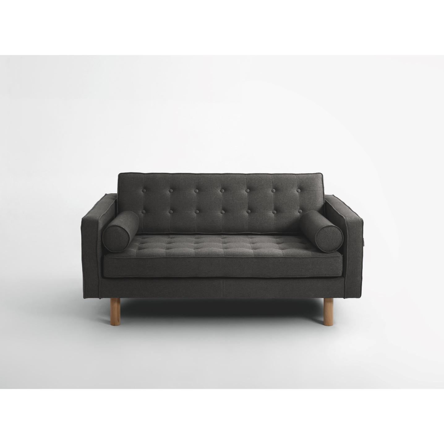 2-Sitzer-Schlafsofa Topic Wood | Stahl