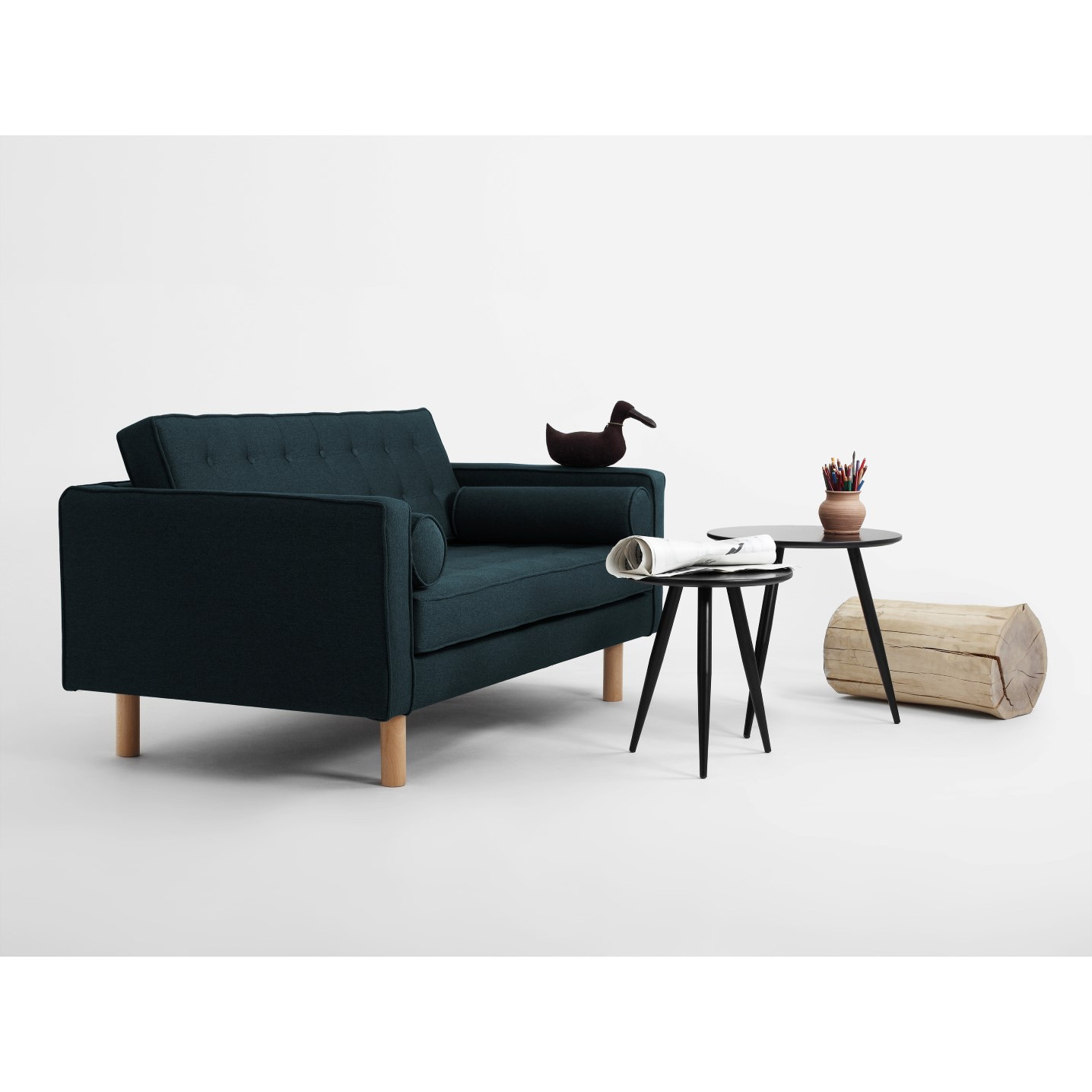 2 Seater Sofa Topic Wood   Deep Sea