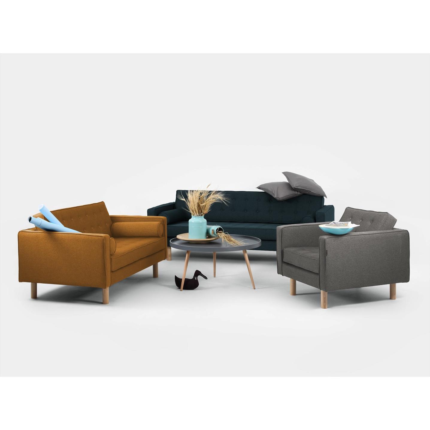 2 Seater Sofa Topic Wood | Honey