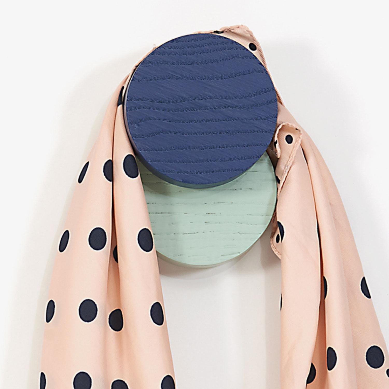 Garderobe Hook Lou   Blau Grün