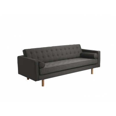 3-Sitzer-Schlafsofa Topic Wood | Stahl