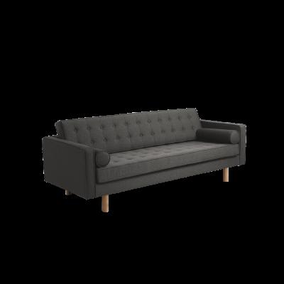 3-Sitzer-Sofa Topic Wood | Stahl