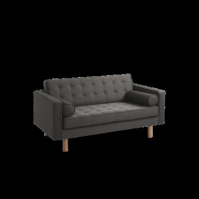 2-Sitzer-Sofa Topic Wood | Stahl