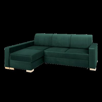Ecke Sofabett Links Stable | Grün