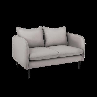 Sofa 2 Sitzer Posh | Stahl Grau