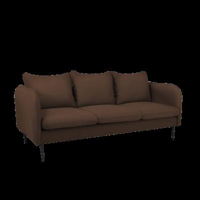 Sofa 3-Sitzer Posh | Braun