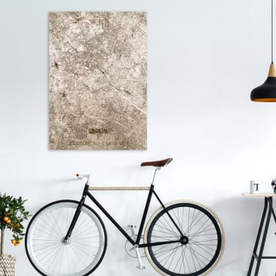 Holzwanddekoration | Stadtplan | Berlin
