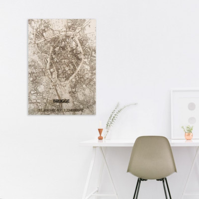 Holzwanddekoration | Stadtplan | Brügge