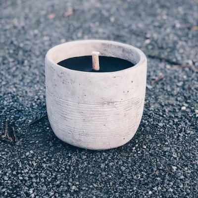 Robust Outdoor Candle   Grey