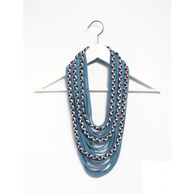 Braided Lace Scarf | Blue