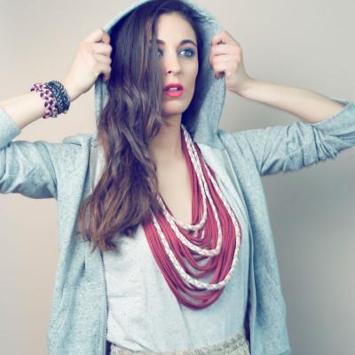 Braided Lace Scarf | Scarlet