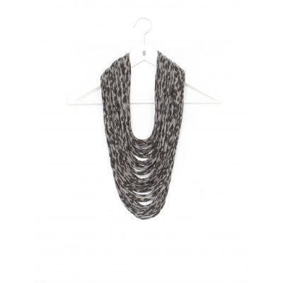 Spitze Multi | Grau Leopard