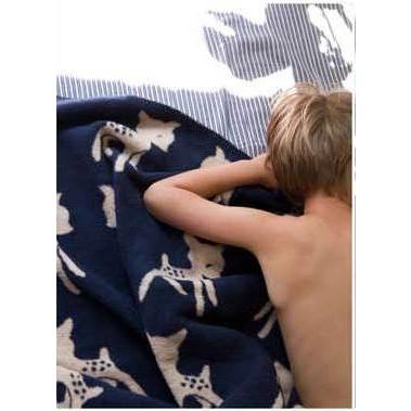 Blanket Bambi Navy/Beige