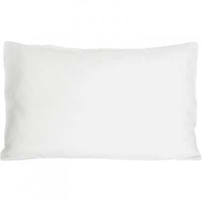 Leinenkopfkissenbezug   Weiß