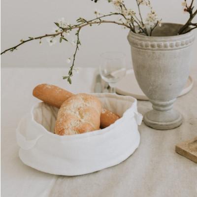 Leinenbrotkorb   Weiß