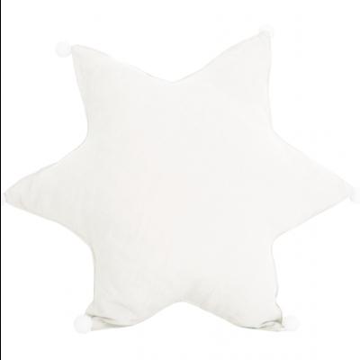 Leinenkissen Star   Weiß