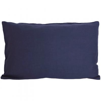 Leinenkopfkissenbezug   Marineblau
