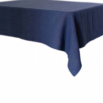 Leinentischtuch   Marineblau