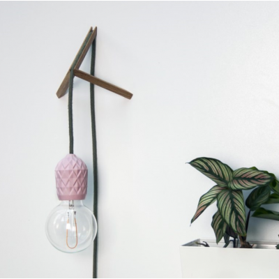 Porcelain Pendant #Shades with Wall Mount | Pink
