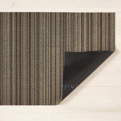 Fußmatte Shag Skinny Stripe 61 x 91 cm | Mushroom