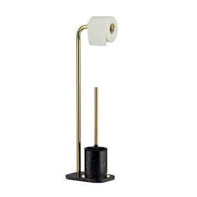 Toilettenpapier- und Bürstenhalter Liron | Gold