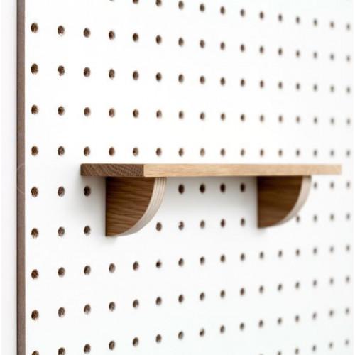 Wooden Pegboard Shelf