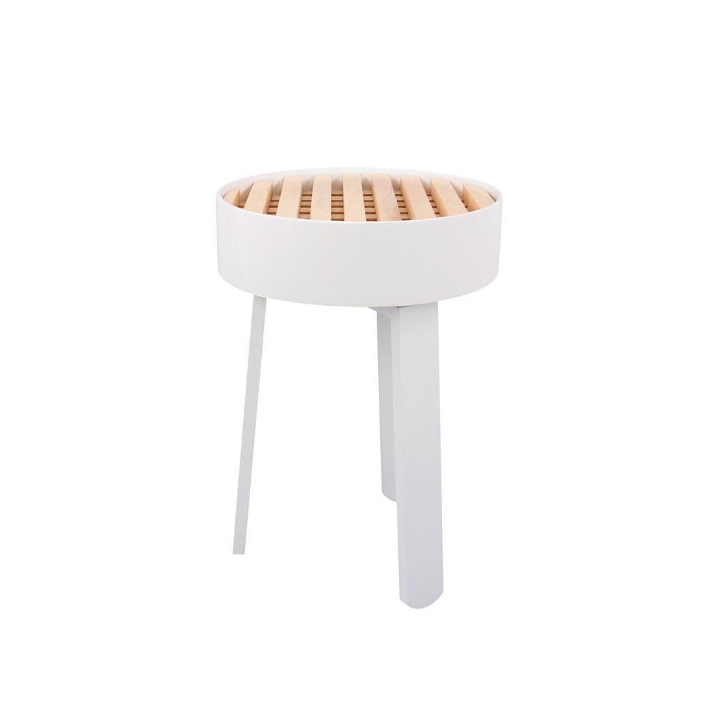 Side Table Trellis   White