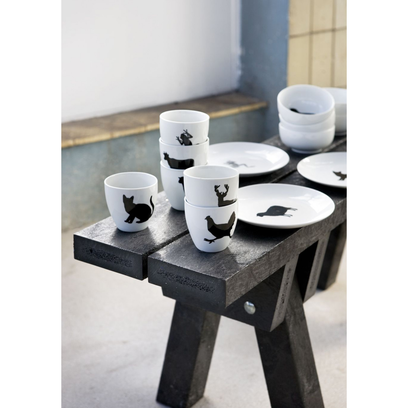 Set of 6 silhouet cups