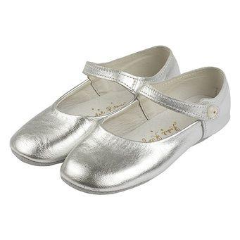 Silberner Party-Schuh/Pantoffel aus Leder