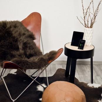 Side Table Trellis | Black / Black