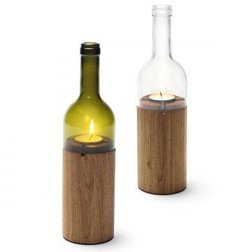 Kerze Weinflasche   Transparent