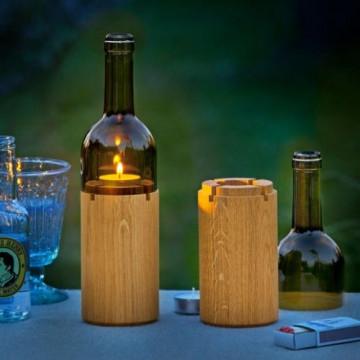 Kerze Weinflasche | Grün