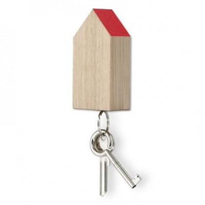 Magnetisches Schlüsselhaus | Eiche-Rot