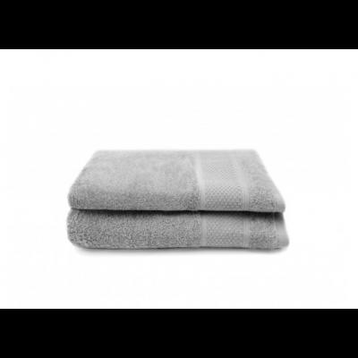 Set of 2 Bath Towels Gigi 50x100 cm | Silver