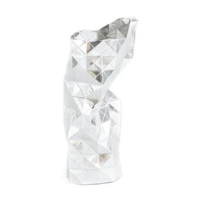 Papier Vase Abdeckung | Silber