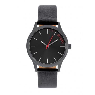 Watch The 2400 | Black & Black Genuine Leather